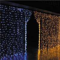 Lanterne à LED 110V US-style Waterproof Ice Light Strips Festive Background Curtain Waterfall Decorative Light Water Light 3 * 3m