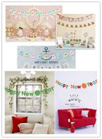 Wholesale Banner Pull Up - Happy New Year Christmas Decorative Letter Pull Flower Banner Banner Banner Hotel Kindergarten Layout Window Dress Up Item