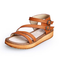 Wholesale Platform Flower Sandals - Summer Women Sandals 2017 Fashion Women's Shoes Flower Sandalias Femininas Casual Thong Flats platform Shoes Women 6668W