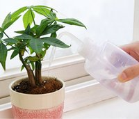 Wholesale Bottle Garden Plants - 250 500ML Mini Plastic Plant Flower Watering Bottle Sprayer Curved mouth watering can DIY Gardening Transparent for succulent plant