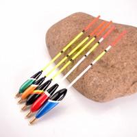 renkli kalem markaları toptan satış-Toptan-BALıK KRALı Marka 5 Adet / takım Deniz Balıkçılık Şamandıra Bobbers Set Mix Renk Boyutu Barguzinsky Fir Yüzen Balıkçılık için Mücadele Yüksek Kalite