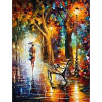 Wholesale High End Wall Art Panels - Beautiful modern paintings the end of patienc Leonid Afremov canvas wall art handmade High quality