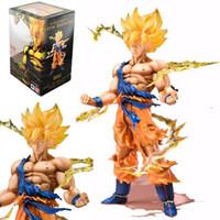 manga de figura de ação venda por atacado-Figuras de ação Anime Manga Collectible modelo Toy Dragon Ball Filho Goku Super Saiyajin (tamanho: um tamanho)