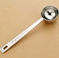 Wholesale Measuring Oil - stainless steel measuring sugar coffee tea oil spoon 15ml tablespoon scoops tools kitchen scales cooking baking tools H47