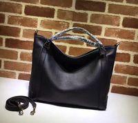 Wholesale Tote Shoulder Bags Handbag - Free Shipping 2017 Winter Design Black Genuine Leather Handbag Women's Shoulder Bag Casual Tote with Belt 323675