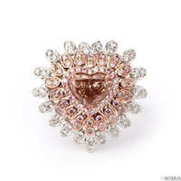 Wholesale Natural Diamond Ring Ct - EXTRAVIGANT Fancy Brown Pink HEART Ring, 1.61 ct, VS2, GIA Natural 18K Gold