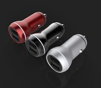 Mini Car Truck Dual 2 Port USB Charger Adapter para iPhone 12-24V Power 3.4A USB Car Charger para Xiaomi Mobile Phone