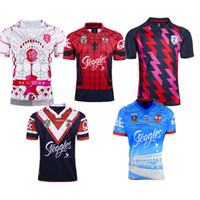 Wholesale Spider Man Top - Paris 2017 Sydney Roosters rugby jerseys men rugbys shirts Spider Man jerseys home jerseys top quality Roosters shirts size S-3XL
