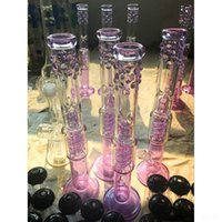 Em estoque Chinese Glass Bongs Joint 18.8mm Oil Rigs Water Pipes Matrix Spiral Perc Bobina Condensador Cheap Hookahs