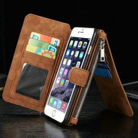Wholesale Leather Wholesale Prices - Hottest multifunction leather case For iPhone 8 7 6 6s Plus Samsung Galaxy S8 S7 edge Wallet case with card slots and holder wholesale price
