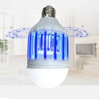 Wholesale Mosquito Killer Bulb - 2 Mods E27 LED Mosquito Killer Lamp Bulb Electric Trap Light Electronic Anti Insect Bug Wasp Pest Fly Outdoor Greenhouse