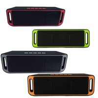 Wholesale big computer speakers - NEW SC-208 Mini Portable Bluetooth Speakers Wireless Smart Hands-free Speaker Big Power Subwoofer Support TF and USB FM Radio