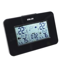 Stazione meteo Baldr Orologio Temperatura di allarme indoor Temperatura Display umidità meteo wireless Allarme Snooze Blue Backlight in due colori