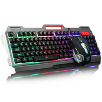 Gelbe Spielmaus Kaufen -Hochwertiger Regenbogen oder gelber LED-Hintergrundbeleuchtung Pro Gaming Keyboard Maus Combos USB verdrahtete Full Key 3200 dpi Pro Gaming Mouse