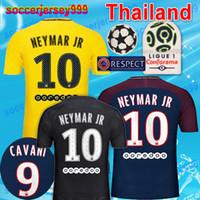 Wholesale Men Saint - Thai 2017 2018 PSG Soccer Jerseys 17 18 Paris GERMAIN SAINT Champions league survetement NEYMAR JR MBAPPE maillot de foot uniforms 3rd third