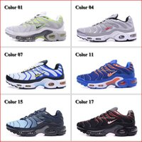 Wholesale Cheap Hight Quality Men s Running Shoes Mens Air Sports TN Shoes Trainers Sneakers Black White Man Fashion Jogging Tennis Athletic Shoes