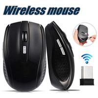 tablet pc venda por atacado-2.4 GHz USB Mouse Óptico Sem Fio Receptor USB mouse Smart Sleep Ratos De Poupança De Energia para Computador Tablet PC Desktop Laptop Com Caixa Branca
