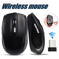 ingrosso compresse usb-Mouse wireless USB ottico 2.4GHz Mouse ricevitore USB Smart Sleep Mouse a risparmio energetico per computer Tablet PC Desktop portatile con scatola bianca