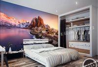 papel pintado paisaje para paredes pared de encargo d mural no tejido papel pintado prpura cielo