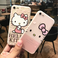 Wholesale Trend Silicone Case - For iphone7 plus cell phone cases with iphone6s Japan and South Korea trend of all wrapped embossed silicone protective cover free shipping