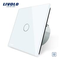 Wholesale livolo crystal glass switch panel for sale - Group buy Livolo EU Standard Dimmer Switch Wall Switch Crystal Glass Panel Gang Way Dimmer VL C701D