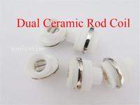 spule für wachs g stift großhandel-Dual Ceramic Rod Coil Wax Ersatzkern Quarzzerstäuber Für Wachsvaporizer Pen Quarzstab für Elips Cloud Pen micro g pen