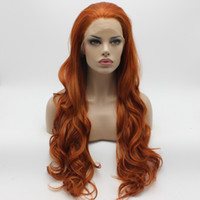 Wholesale 144 Hair - Iwona Hair Wavy Long Blonde Red Mix Wig 12#144 3100 Half Hand Tied Heat Resistant Synthetic Lace Front Wig