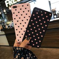 korea bonito telefone venda por atacado-Coréia do sul rosa amor bonito telefone case capa para iphone 6 s shell do telefone para iphone 7 plus hard shell estojo de proteção
