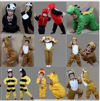 Wholesale Kids Stage Clothing - 2017 New Cartoon Animals Children's Cosplay Cute Animal Kids Fashion Halloween Christmas Party Costumes Boys Girls Stage Performance Clothes