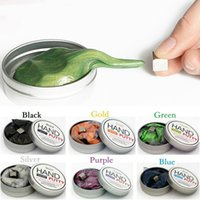Wholesale Magnetic Rubber - Hand putty DIY slime Playdough Magnetic Rubber Mud Strong plasticine Putty Magnetic Clay Education Toys Kids Gift free shipping