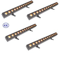 4 Unidade Led Wall Washer Lights 14X12W RGBWA-UV 6IN1 Led Bar Lights com Função Running Horse Professional Shows Equipamentos