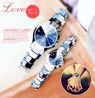 Wholesale New Pair Couple Watch - There is a stock of genuine fashion men's couple watch a pair of Korean waterproof business men's watches quartz watch watch female