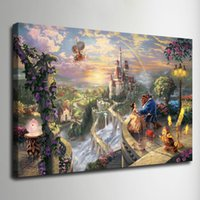 Wholesale Thomas Kinkade Oil Painting princess series Art picture HD Canvas print Wall Art Pictures Home Decor Living Room Decoration