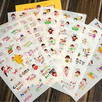 Wholesale girl scrapbooks - Wholesale- 6 Pcs lot Lovely Cartoon Girls Print Memo Pad Sticker Notebook Album Calendar Memo Sticker Diary Notes Scrapbook Paper Sticker