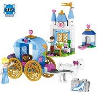 Wholesale Dream Carriage - 2017 37002 friends blocks Elsa princess building blocks Cinderella's Dream Carriage Model Set Gift Toys Compatible lepins 41053