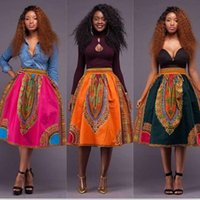 Wholesale Totem Skirts - Fashion explosion, retro African National Style totem, printed bust skirt, S, M, L, XL, support mix batch