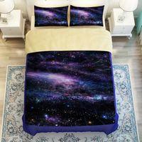 Wholesale 3d Ocean - Comforter Bedding Sets 3D Reactive Printing Beds Bed Sheet Set Duvet Cover purple sky Beddings 4PC Set