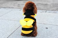 Wholesale Yellow Pet Clothes - Estrella Cute Pet Clothes with Bee Wings Party Costume for Dog Cat Cosplay Suit for Pet Gifts Free Shipping