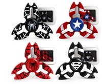 black spiderman toys - Super Hero America Captain spiderman superman toy Fidget Spinner Hand Spinners CNC EDC Finger Tip Anxiety Rollover Novelty HandSpinners Toys