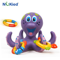 Wholesale Octopus Toy For Babies - NUKied 6PCS Newborn Baby Cute octopus Shape Water Bath Toy Rubber Float Squeeze Dabbling Soft Bathroom Toys For Children