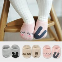 Wholesale Kids Slippers Wholesale - slipper socks for kids Toddler Baby Girls Cute Non-slip Asymmetrical animals fox rabbit cat panda mouth cartoon Socks Soft Socks 0-4Y