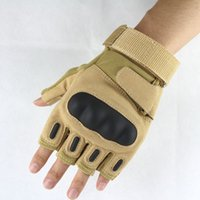 Wholesale Airsoft Fingerless Gloves - High Quality 2017 Hot Special Outdoor Sports Motorcycle Goalie Tactical Gloves Fingerless Airsoft Combat Mittens Half Finger Tactical Gloves