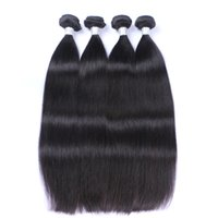 Wholesale Cheap Remy Full Weaves - Peruvian Straight Hair 100% Unprocessed Virgin Straight Human Hair Extension Cheap Remy Hair Bundles Natural Soft Full Double Weft
