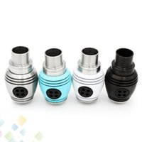 Wholesale Fans Tips - New Nuke RDA Mod Rebuildable Dripper Atomizer Clone 3 Turbine Fans Adjustable Airflow Round Body Wide Bore Drip Tip DHL Free