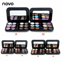 Wholesale naked palette makeup 12 resale online - NOVO Brand Professional Color Nude Eyeshadow Palette Makeup Naked Smoky Shimmer Eye Shadow Palette Set Pigment Eyeshadow With Brush