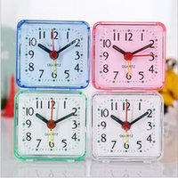 Wholesale Outdoor Modern - Home Outdoor Portable Cute Mini Cartoon Multi-function Trip Bed Beep Desktop Alarm Clock Mini Portable Table Clocks