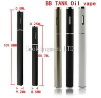 Wholesale Ecig Oils - Black White Color bbtank disposable e cigarette ecig vape pen disposable empty CE3 vaporizer CO2 Cartridge thick oil ce3 disposable