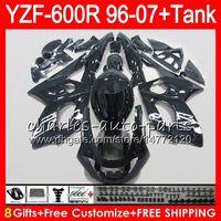yamaha thundercat 1996 verkleidungen großhandel-8Gift 23Color für YAMAHA YZF600R Thundercat 96 97 98 99 00 01 53HM21 YZF-600R glänzend schwarz YZF 600R 1996 1997 1998 1999 2000 2001 Verkleidungssatz