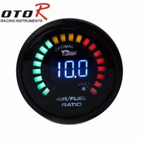 Wholesale Car 52mm - Wholesale-Air Fuel gauge 2inch 52mm Electrical car Meter Digital Wideband Brand Smok Air Fuel Ratio Auto gauge tachometer YC100099