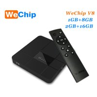 Wholesale Tv Hd Media Player Mini - WeChip V8 android tv box 7.1 OS Amlogic S905W 2G 16G Media Players Better X96 Mini MXQ PRO android box